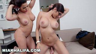 Mia khalifa stepmom juliana vega fucks and sucks her boyfriends cock